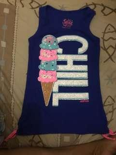 Blue Sando with cuteice cream design