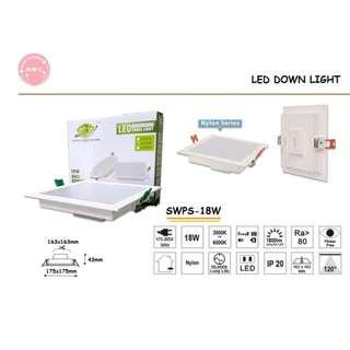 🚚 Led Down Light 18W Round and Square