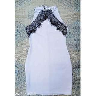Brand New White Backless Dress