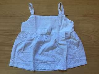 Little Miss white top Size 6
