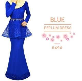 Maxi Dress Electric Blue