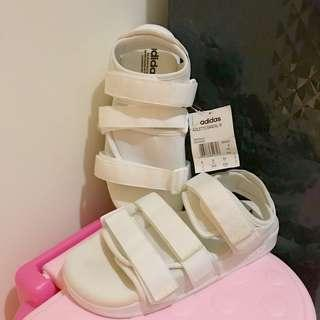 全新 Adidas originals adilette white strappy sandals 👡 白色 涼鞋 拖鞋 運動鞋