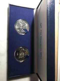 Singapore zodiac Tiger 2pc $10 coin