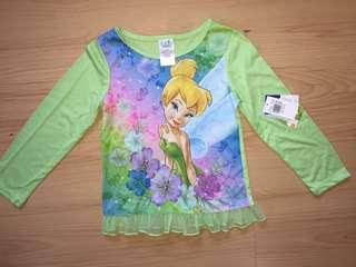 Tinkerbell top Fits 6-7yrs old