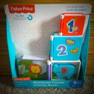 BN Brand New Fisher Price Rainforest Friends Activity Books Toy Toys
