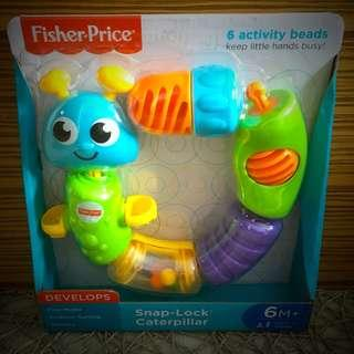 BN Brand New Fisher Price Snap and Lock Caterpillar