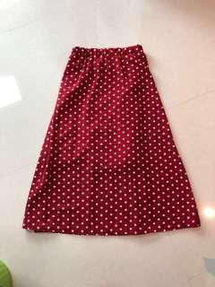 SALE❗️Red Polka Dot Midi Skirt