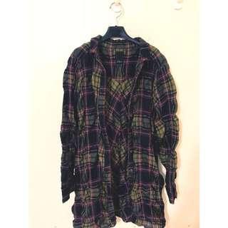 🚚 GOZO 原價2780 格紋襯衫 特殊抓皺布料 穿起來真的超級好看的唷😘😍