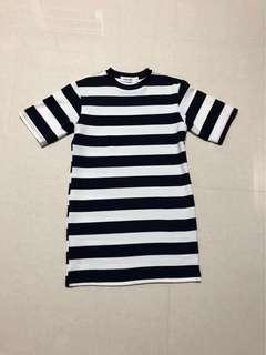 The Editor's Market TEM Navy Blue Stripe Dress