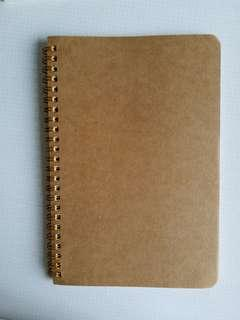 🚚 BN A5 Lines or Blank Notebook (brown cover)