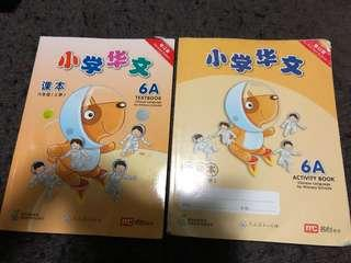 Chinese 6A textbook and activity book