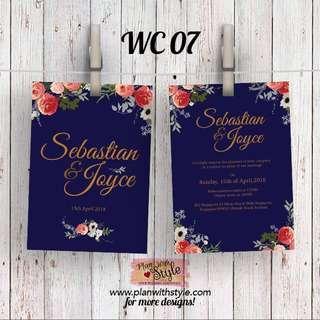 Wedding Card WC07