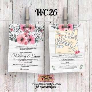 Wedding Card WC26