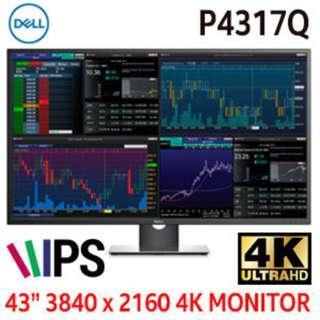 "Dell P4317Q 43"" 3840x2160 UHD 4K Multi-Client IPS LED Monitor"