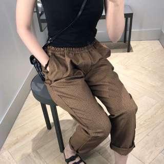 Choco houndstooth Pants