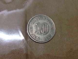 16 Pieces of Old Malaysian 10 Cents