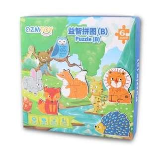 *In Stock* BN Forest Animals Puzzles 6x Different Animal-Shaped Puzzles