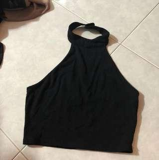 Black basic Halter Top