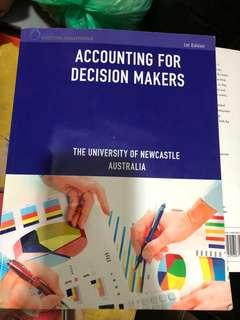 Accounting for decision makers university of newcastle