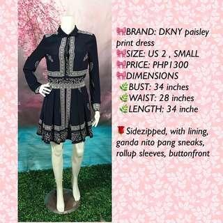 DKNY PAISLEY PRINT DRESS