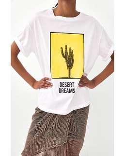 Zara T-shirt 鬆身T tee
