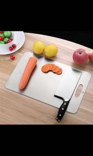 Stainless steel chopping board