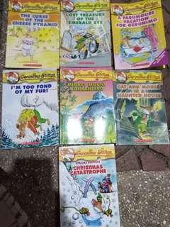7 pcs Geronimo stilton set