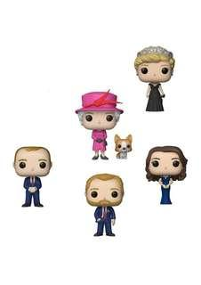 Set of 5 Funko Pop The British Royal Family