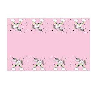Unicorn theme party supplies - Table cover / tablecloth / party deco