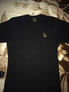 OVO Black T-Shirt (SZ XS)
