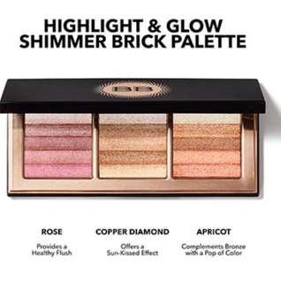 BN Bobbi Brown Highlight and Glow Shimmer Brick Palette (Limited Edition)