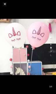 10 inch sleeping unicorn latex balloon