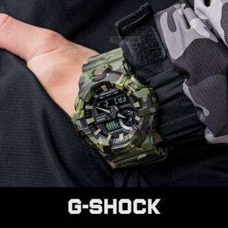 🌲🌲100% Authentic Casio Gshock Camo GA700CM Green Camouflage Unisex Military Watch with FREE DELIVERY 📦 G-Shock