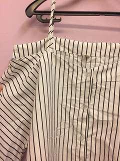 Striped Off Shoulder Top w strap