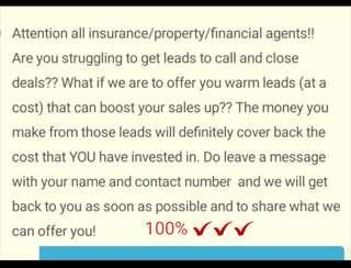 LEADS for Insurance & Property Agents!