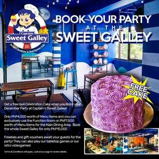 Reserve for your Holiday Party (Free Cake)