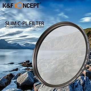 🚚 K&F Concept 52mm Super Slim CPL Circular Polarizing Filter for Nikon, Canon