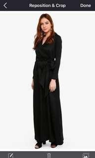 Lubna Belt Fitted Robe Dress