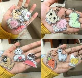 [GO] Stray Kids Keychains & Sticker Sets by staywoochan BATCH 2