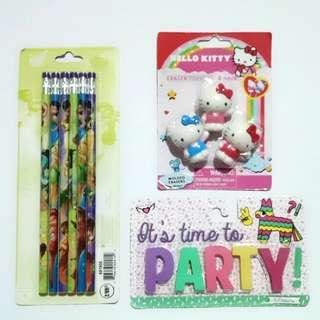 Take all! Pencil and eraser packs