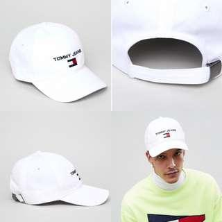 "INSTOCKS White ""Tommy Jeans"" Baseball Cap"