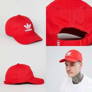 "INSTOCKS Red Adidas Originals ""Trefoil"" Baseball Cap"