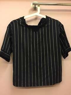 Boxy striped top