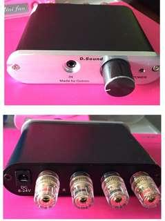Mini Amplifier 60W 12v Size : 112 x 28 x 122 (mm)  3.5mm input  Direct out passive speaker