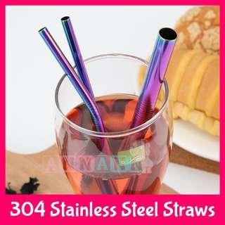 SUS304 Premium Food Grade Stainless Steel Bent Straw★Pouch Bag Box★Reusable Cup Tumbler Mug