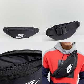 "INSTOCKS Black Nike ""Swoosh"" Waist Bag"