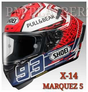 *PSB APPROVED SHOEI X-14 MARQUEZ 5 TC1.