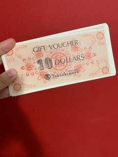 Trade 1:1 takashimaya voucher with other vouchers
