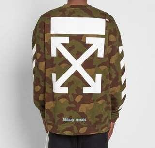 Off-White Camo Jumper