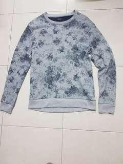 Zara floral sweatshirt
